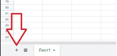 Как создать новый лист в гугл таблице
