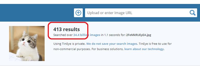 Проверка картинки или фото на уникальность онлайн в TinEye