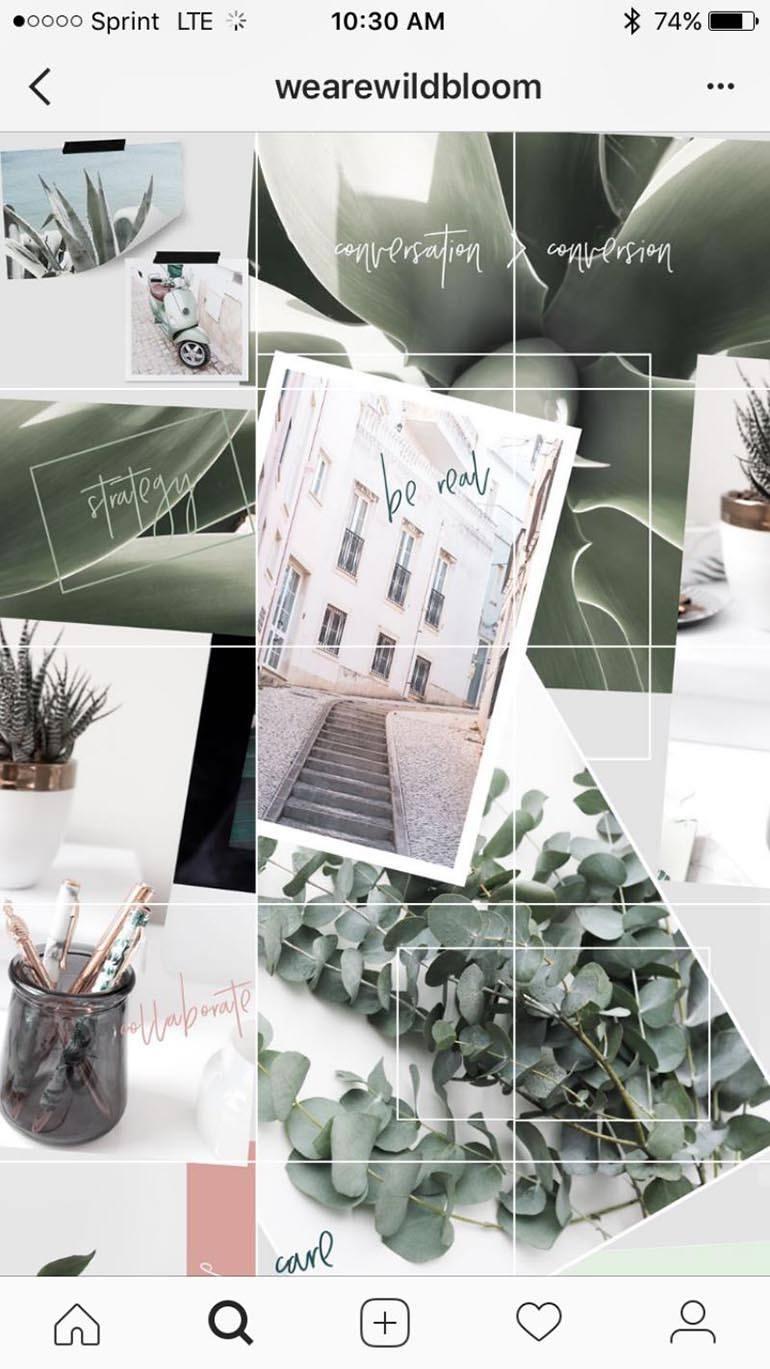 Оформление фотографий в едином стиле и составляющие красивые рисунки
