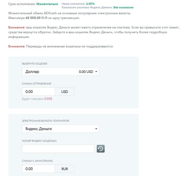 Перевод на Яндекс Деньги